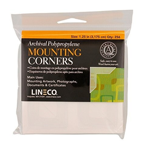 Lineco Self-Adhesive Polypropylene Mounting Corners - 1.25