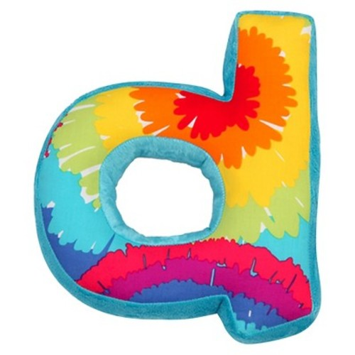 One Grace Place Terrific Tie Dye Letter Pillow \