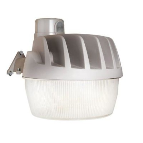 All-Pro Gray Outdoor Integrated LED Security Area Light with Replaceable Dusk to Dawn Photocell, 3500 Lumens, 5000K Daylight
