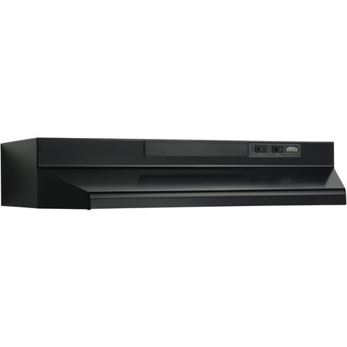 Broan Black Metal 30-inch Two-speed 4-Way Convertible Under-cabinet Range Hood