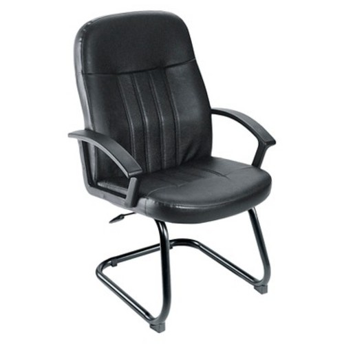 Executive Leather Budget Guest Chair Black - Boss Office Products