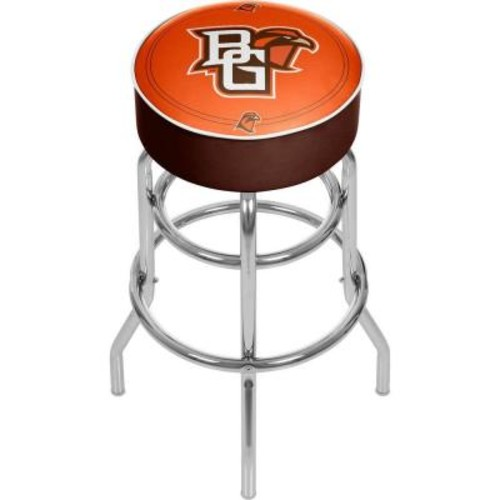 Trademark Global Bowling Green 31 in. Chrome Padded Bar Stool