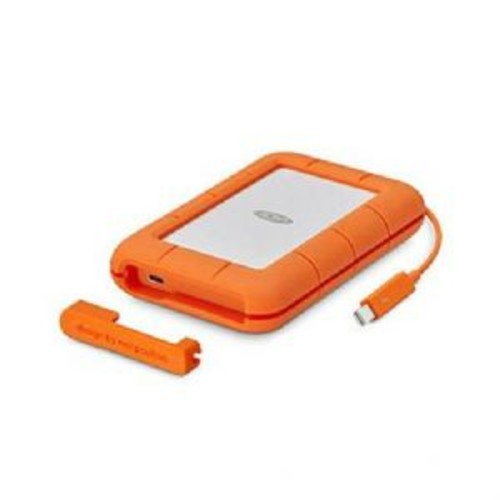 Seagate LaCie Rugged USB-C Portable Hard Drive - 5TB Storage Capacity, USB-C Interface, Up to 130MB/s Data Transfer Speed, Windows & Mac Compatible, Orange - STFR5000800