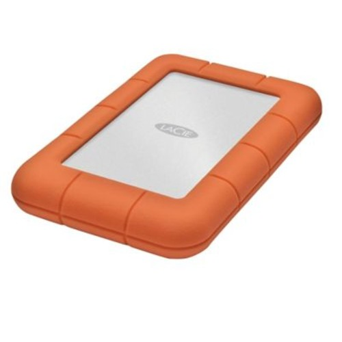 LaCie LAC301558 1 TB USB 3.0 Portable Rugged Mini Hard Drive Orange