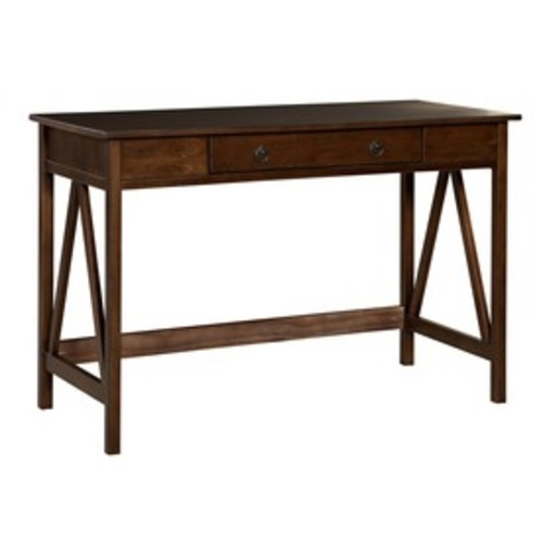 Linon Home Decor Titian Antique Tobacco Writing Desk