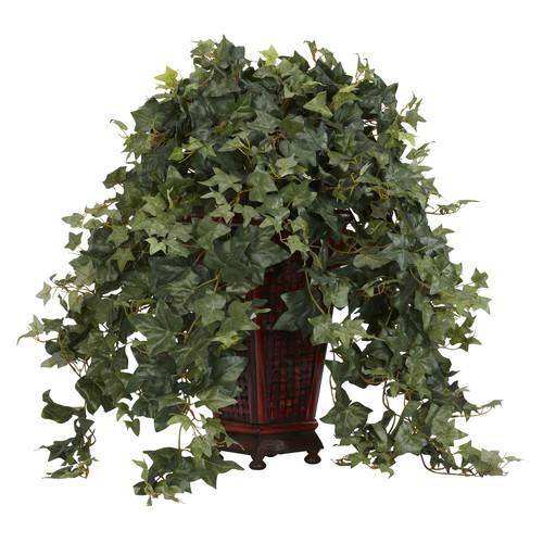 Vining Puff Ivy w/Decorative Vase Silk Plant