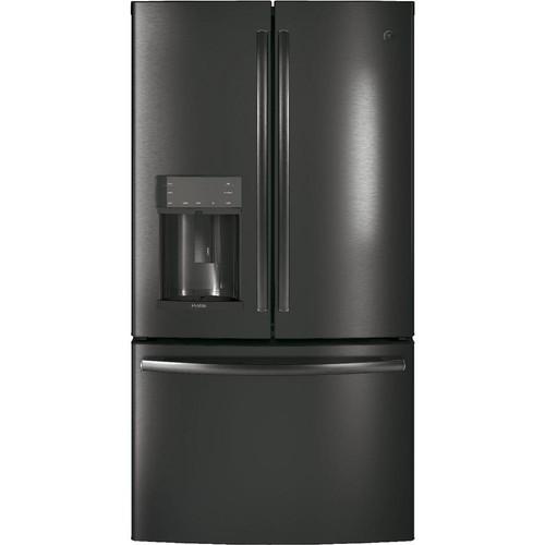 GE Profile 36 in. 27.8 cu. ft. French-Door Refrigerator in Black Stainless Steel with Door-in-Door, Fingerprint Resistant