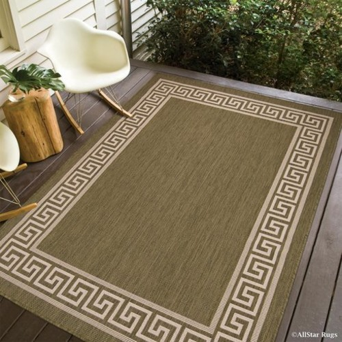Howell All Weather Green Indoor/Outdoor Area Rug [Rug Size : 5' x 7']