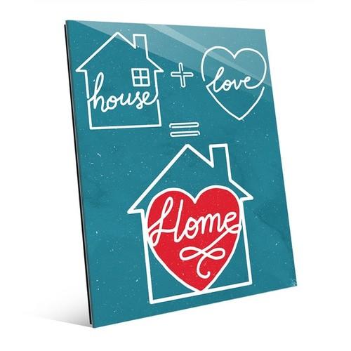 'Home Equation on Teal' Wall Art Print on Acrylic [option : Home Equation on Teal 11