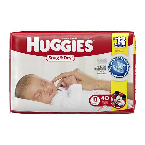 Huggies Snug & Dry Newborn Disposable Diapers - 40 Count