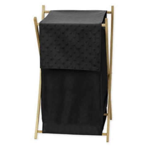 Sweet Jojo Designs Black Minky Dot Collection Laundry Hamper