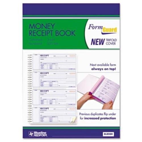 Rediform Prestige Money Receipt Book - 100 Sheet[s] - Wire Bound - 3 Part - Carbonless - 8.50
