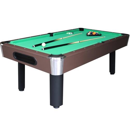 Sportcraft 7' Green Billiard Table w/ Table Tennis Top