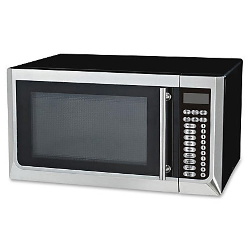 Avanti 1,000-watt Microwave - Single - 11.97 gal Capacity - Microwave - 10 Power Levels - 1000 W Microwave Power - 120 V AC - Glass - Countertop - Black, Stainless Steel