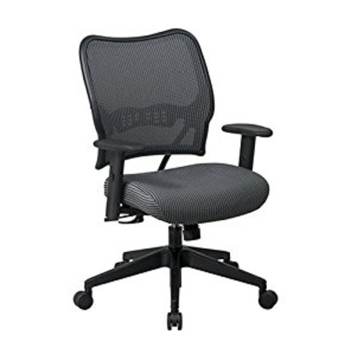 SPACE Seating Deluxe VeraFlex Fabric Seat and Back, 2-to-1 Synchro Tilt Control and 2-Way Adjustable Arms Managers Chair, Charcoal [Charcoal]