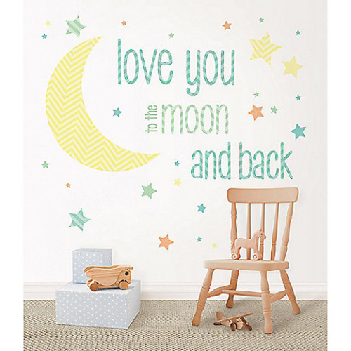 WallPops! I Love You To The Moon Wall Wishes Decal Kit