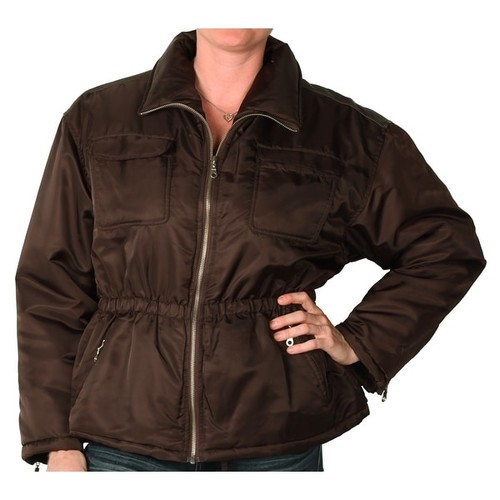 Outertown Women's Fashion Jacket with Faux Leather Trim