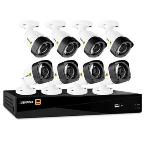 Defender 16-Channel HD 1080p 2TB DVR Security System and 8 Bullet Cameras Mobile Viewing