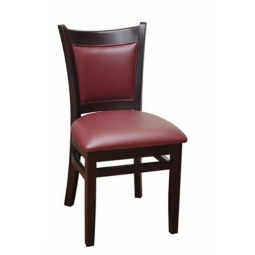 DHC Furniture Side Chair; Burgundy