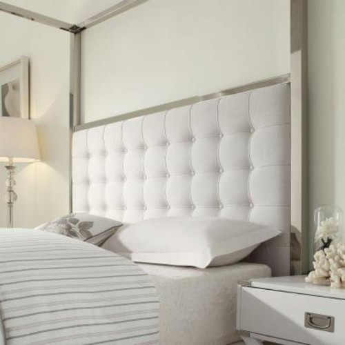 HomeSullivan Taraval White King Canopy Bed