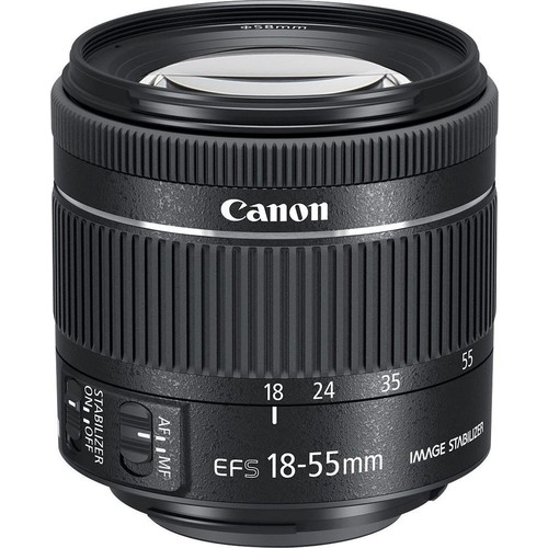 Canon - EF-S 18-55mm f/4-5.6 IS STM Zoom Lens for Canon EF-S mount cameras - Black