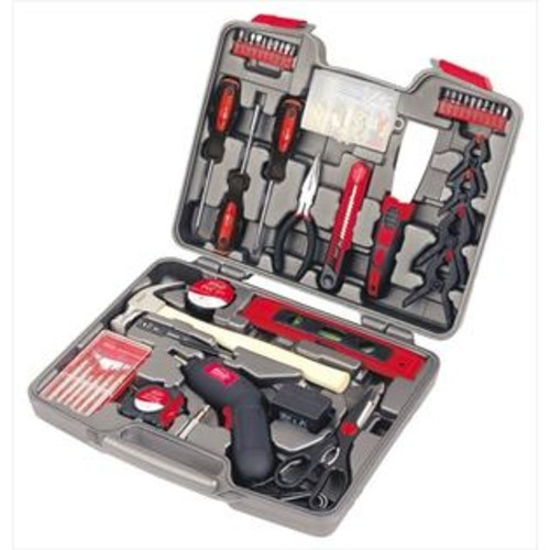 Apollo Precision Tools DT8422 144 Piece Household Tool Kit with 4.8 Volt Cordless Screwdriver