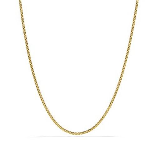 Small Box Chain in Gold, 16