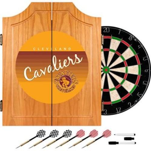 Trademark 20.5 in. Cleveland Cavaliers Hardwood Classics NBA Wood Dart Cabinet Set