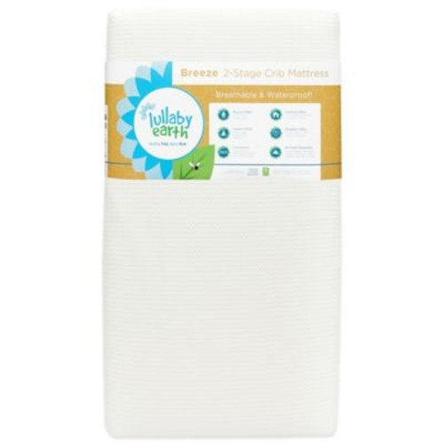 Lullaby Earth Breeze Breathable 2-Stage Crib Mattress in White