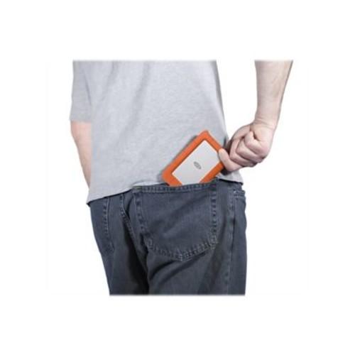 LaCie 2TB 5Gbps Rugged Mini Portable USB 3.0 External Hard Drive, Orange (LAC9000298)