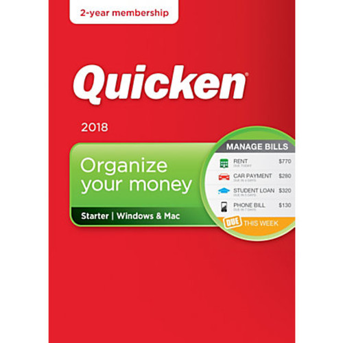 Quicken Starter 2018, 2-Year Subscription, For PC/Mac, Traditional Disc