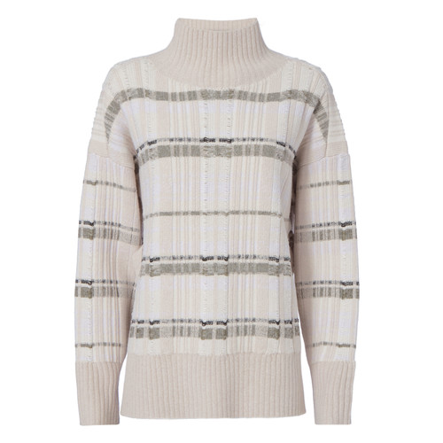 3.1 PHILLIP LIM Abstract Float Plaid Pullover Sweater