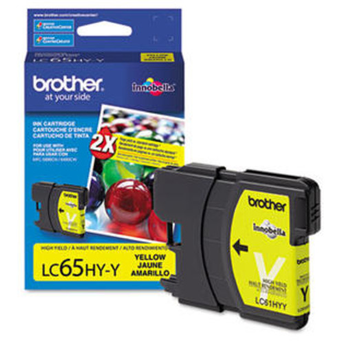 Brother LC65HYY (LC-65HYY) Innobella High-Yield Ink, 750 Page-Yield, Yellow