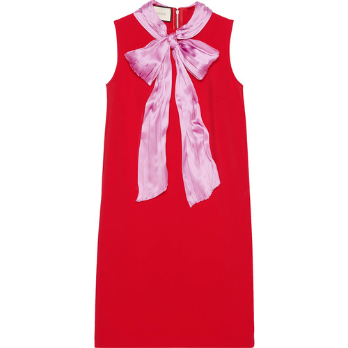 GUCCI Stretch Viscose Dress With Bow