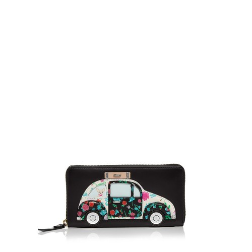 KATE SPADE NEW YORK Scenic Route Car Appliqué Leather Wallet