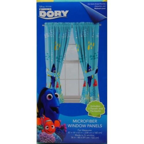 Disney Finding Dory Kids Bedroom Curtains Set of 2