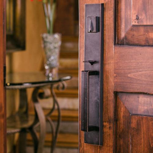 Sure-Loc Rustic Bronze Entry Handle Set