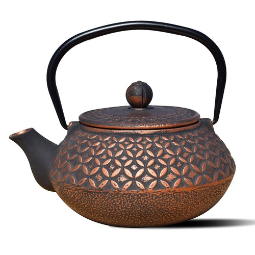 Dutch Amai 3-Cup Teapot in Black and Copper