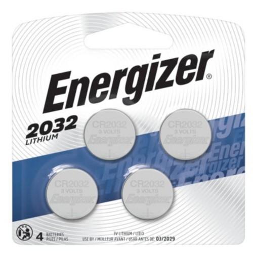 Energizer 2032 Coin Lithium Batteries 4 Count (2032BP-4)