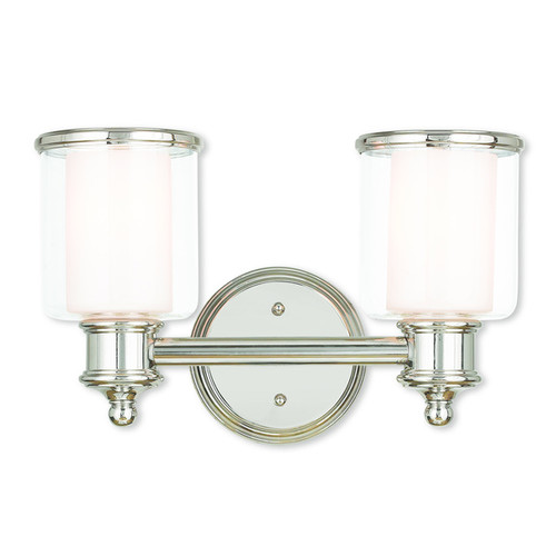 Livex Lighting Middlebush Polished Nickel 2-light Bath Vanity