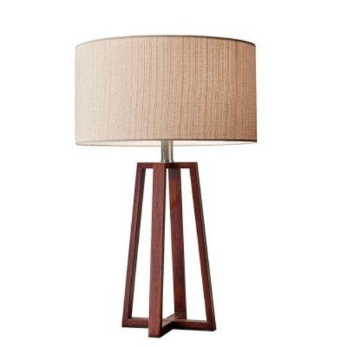 Adesso Quinn 24 in. Brown Table Lamp