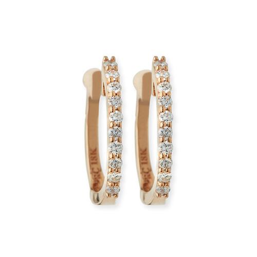 Baby Hoop Diamond Earrings