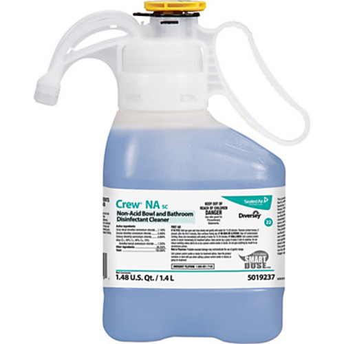 Diversey Non-acid Bowl/Bathroom Cleaner - Concentrate Liquid - 0.37 gal (47.34 fl oz) - Floral Scent - 2 / Carton - Blue