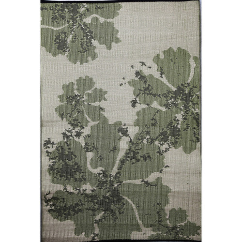 b.b.begonia Boca Reversible Design Green and Brown Outdoor Area Rug (4' x 6') - small
