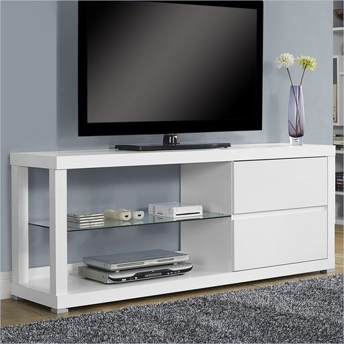 Monarch Specialties - Hollow Core TV Console Tempered Glass - Multi