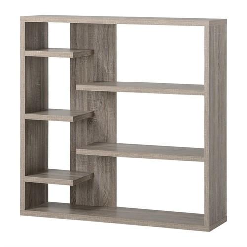 Homestar - Homestar 6 Shelf Storage Bookcase in Reclaimed Wood - Black