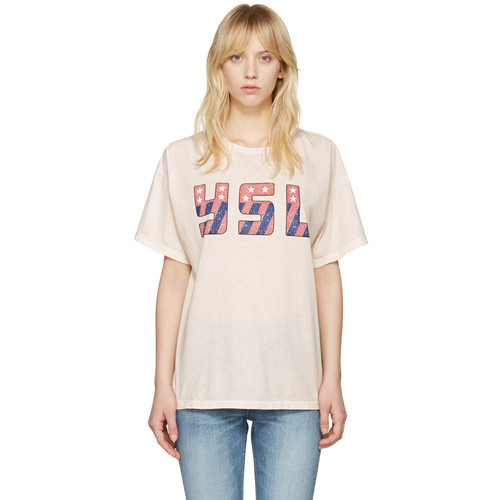 SAINT LAURENT Pink Usa T-Shirt