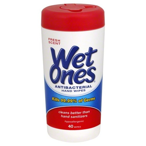 Wet Ones Hand Wipes, Antibacterial, Fresh Scent, 40 wipes