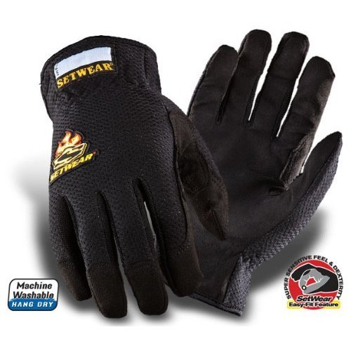 SetWear EZ-Fit Gloves, Pair Large (Size 10) Approximatly 4-4.5