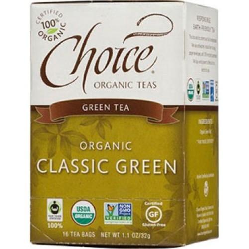 Classic Green Tea Choice Organic Teas 16 Bag